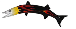 Barracuda Decor: 62-inch Atlantic Barracuda sculpture