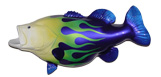 Big Mouth Bass Decor: 28-inch Big Mouth Bass sculpture