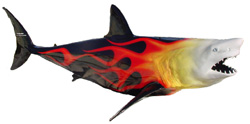 12-foot Mako Shark Sculpture