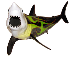 60-inch Mako Shark Sculpture:Ceiling Mount