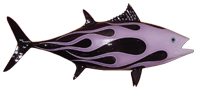 Tuna Decor: 51-inch tuna fish Sculpture