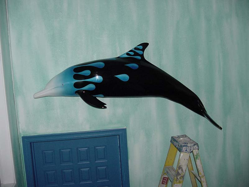 Image of fiberglass custom-painted Waterdrop Dolphin