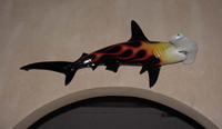 Real World San Diego Hammerhead Shark Sculpture Doorway to the bathing room