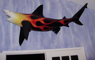 Real World Blacktip Shark Sculpture Living Room